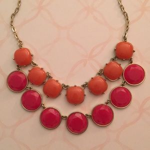 Orange and Pink Statement Necklace